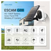 IP Cam AC/DC FullHD PIR - REC CLOUD/TF TALK IR - ESCAM G08 SOLAR PANEL