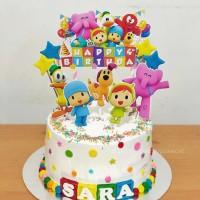 Pocoyo Topper Cake Birthday / Hiasan Kue Ulang Tahun