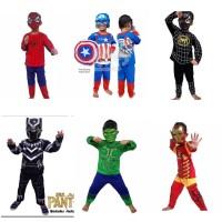 Kostum baju anak superhero captain america spiderman iron hulk bp