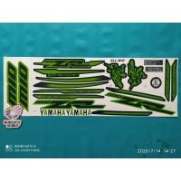 Striping Stiker Motor Yamaha All Mio sporty variasi zr hijau