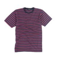Kaos Garis Lengan Pendek Navy Stripes Unisex Premium Quality