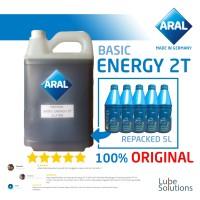 ARAL BASIC ENERGY 2T OLI SAMPING MOTOR (REPACK 5 LITER) 100% ORIGINAL