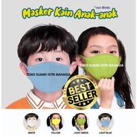 Masker Kain Anak Anak Rider 100% Katun Cotton Anti Bakteri 2 Dua Lapis