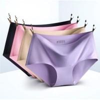Celana Dalam Wanita Seamless Tanpa Jahitan Ice Silk Uk L- XL