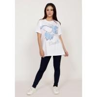 Atasan Wanita Kaos T-shirt spandex Zahra Signature Dumbo sketch