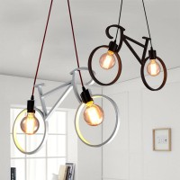 Kap Lampu Gantung Sepeda / Nordic Iron Bike Vintage Chandelier Edison