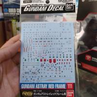 Decal HG RG Astray Red Frame no 111 Bandai waterdecal Gundam