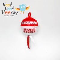 Balon Foil mini HUT Ri/Hiasan Kemerdekaan/ Balon Dirgahayu 17 Agustus