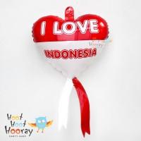 Balon Foil HUT RI/Hiasan Kemerdekaan/Balon Love Dirgahayu 17 agustus