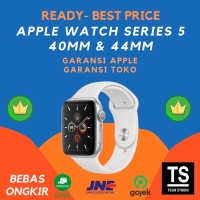 Apple Watch Series 5 40mm 44mm 40 44 mm Silver with White Sport Band