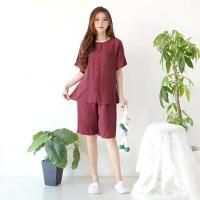 Baju Tidur Wanita Cewek Piyama Pajamas Set Piyama Adem Kancing Vol.4