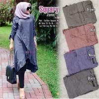baju atasan squary tunik muslim wanita terbaru cantik lucu trendy unik