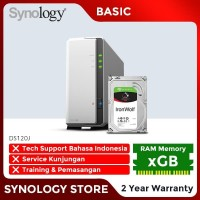 SYNOLOGY DS120J NAS Network Storage 1Bay Backup Server Desktop Basic