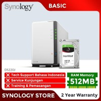 SYNOLOGY DS220J NAS Network Storage 2 Bay Backup Server Desktop Basic
