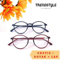 Kacamata Baca Bulat Plus 5101 bahan TR untuk Rabun Dekat Pria Wanita