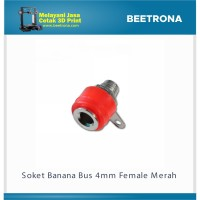 Soket Banana Socket Steker Bus 4mm Female Binding Merah