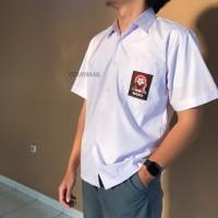 Seragam SMA Pendek Sablon Bahan TC