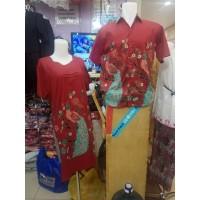 Baju Batik Kouple pasangan Motif Burung merak