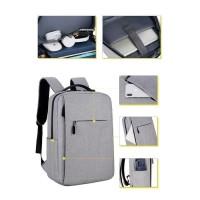 ANGEL Tas Ransel USB port charger,Smart Backpack Anti Air Anti Maling - Abu-abu