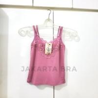 Kaos Dalam Wanita Lace Crop Tank Top Renda Pink Ungu Biru Muda