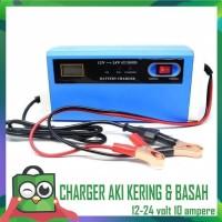 Smart Charger AKI Mobil Motor Cas AKI 12 V dan 24 Volt 10A Fast