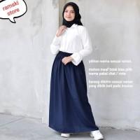 Rok Wolfis Polos Basic Skirt Rok Panjang
