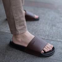 Sandal Pria Slop Sendal Slide Cowo Cogen Leather Kulit Copenhagen