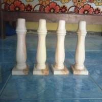 kaki meja kayu bubut lesehan