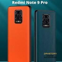 Hard Back Cover Soft Case Leather Skin Look Xiaomi Redmi Note 9 Pro
