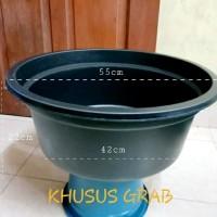 Baskom Plastik Besar Diameter 55cm | Ember Plastik | BAK 24 Hitam
