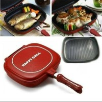 (MURAH )HAPPY CALL DOUBLE PAN JUMBO32CM - Merah
