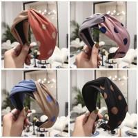 Bando Korea Fashion Wanita Bandana Wide Headband Turban Lebar HALF DOT