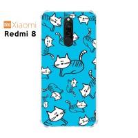 Casing Custom Xiaomi Redmi 8 Softcase Anticrack Motif Kucing Lucu 01