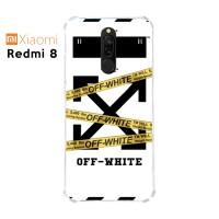 Casing Custom Case Xiaomi Redmi 8 Softcase Anticrack Motif Off White 2