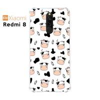 Casing Custom Xiaomi Redmi 8 Softcase Anticrack Motif Sapi Lucu 03