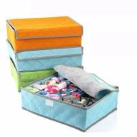 Bamboo Underwear Storage Organizer Box Bag Tempat Penyimpanan CD Celan