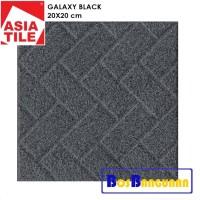 Keramik Asia Tile 20x20 CM Galaxy Black / Keramik Kamar Mandi Kasar1
