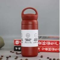 [MERAH] Hook Travel Tumbler 350ml / Termos Keren Botol Air Panas H555