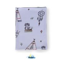 Light Blue Indian Toddler blanket
