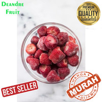 GROSIR MURAH 500gr Strawberry Frozen Premium Buah Beku Stroberi Best
