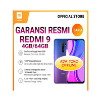 Redmi 9 (4GB+64GB) 13MP Layar 6.53 FHD+ Baterai 5020mAh Garansi Resmi