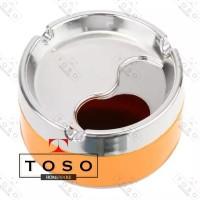 Asbak Rokok Putar Size 9cm Round Ashtray Rotary Orange