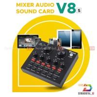 Soundcard V8 Mixer Audio USB External Plus Bluetooth