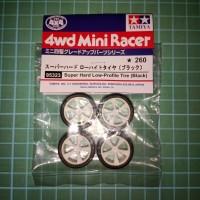 Super Hard Tire (Black) Ban Tamiya Mini4wd   Replika non Original