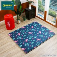 Quantum Kasur Lantai 160 x 200 Flamingo - Busa Lipat Gulung Travel