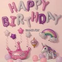 Balon set unicorn paket balon ulang tahun aksesoris dekorasi unicorn