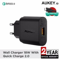 Aukey PA-U28 - Kepala Charger Fast Charging QC 2.0 18W