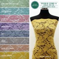 20118 CORD - KAIN BROKAT / BRUKAT CORD CORNELLY DOFF [harga per 0.5m] - ADAM GREEN