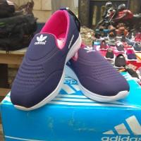 Sepatu Slip On Adidas Blue Pink - 36