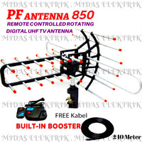 Antena Antenna Remot Remote TV Luar Outdoor PF 850 Dan Booster + Kabel